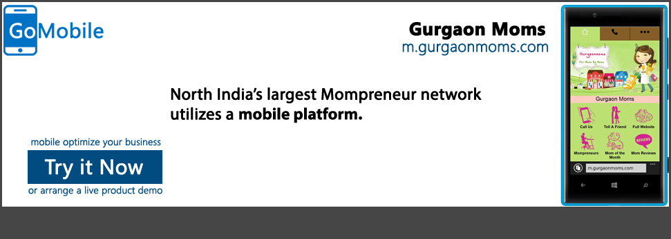 Gurgaon Moms discovered mobile solutions that works.