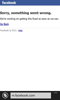 Facebook is down (first time I've seen it happen).